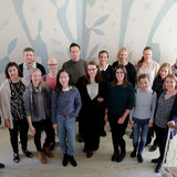 Group photo of the International Business staff, Aalto university