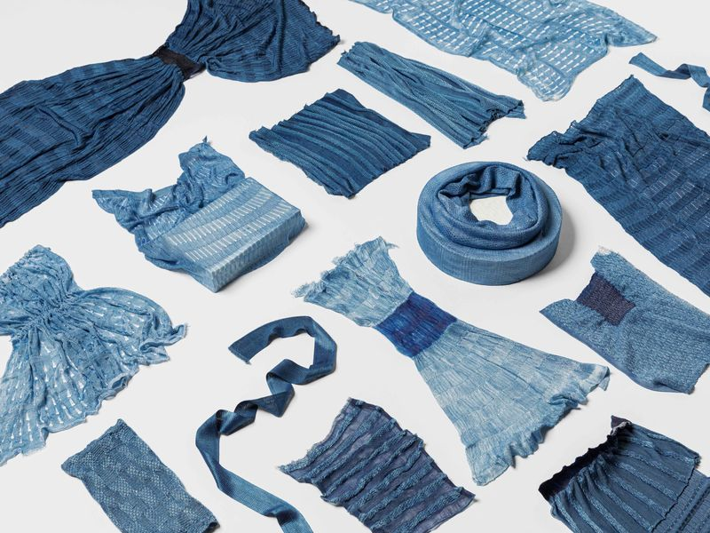 Layers of Blue designed by Anna van Der Lei & Anna-Mari Leppisaari. Photo: Eeva Suorlahti