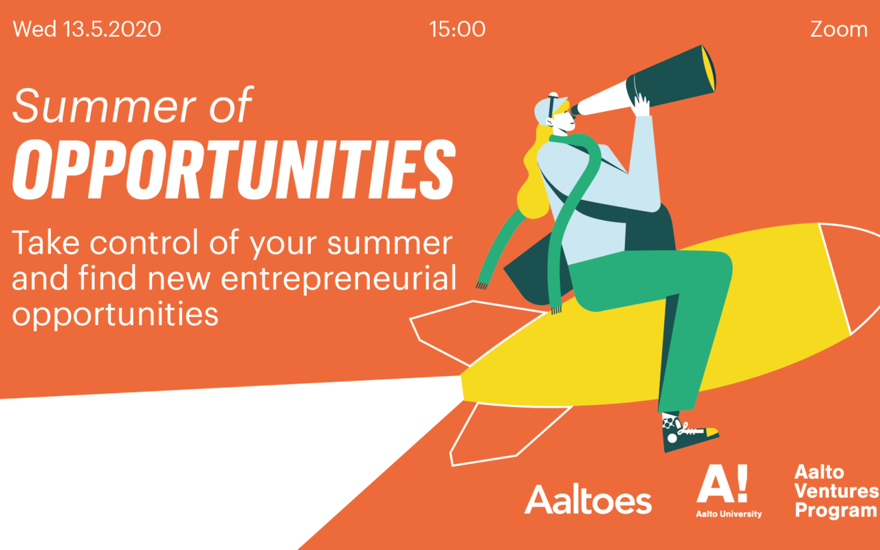 Summer of opportunities info-event: Wed 13.5. 15:00 on Zoom