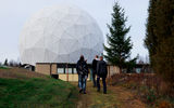 Aalto University / Students walking towards Metsähovi radio observatory / photo: Linda Koskinen