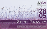 Poster for the Zero Gravity final exhibition.
