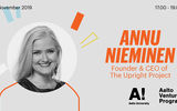 Banner for Thought Leaders' Talk by Annu Nieminen