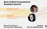 BMC breakfast, March edition. Speakers: Anu-Katriina Pesonen & Kimmo Alho
