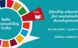 Aalto Sustainability Talks - Quality education for sustainable development