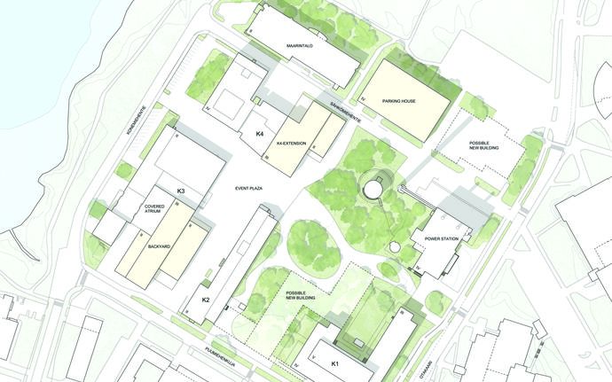 Aalto University Works map of the block