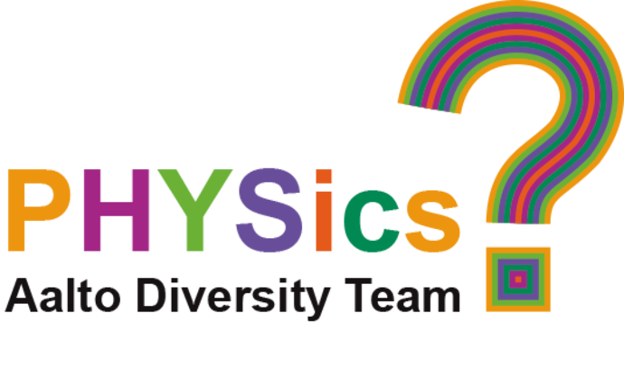 Logo of the PHYS Diversity Team in Aalto colours