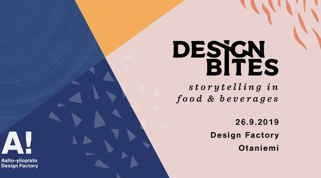 DesignBites storytelling event 26.9. at the Design Factory