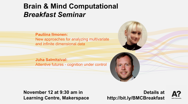 Photos of the Brain & Mind seminar November speakers.