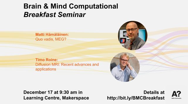 Brain & Mind Computational Breakfast seminar poster, December edition.