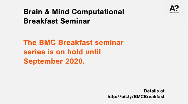 The Brain & Mind Computational Breakfast is on hold until September 2020.