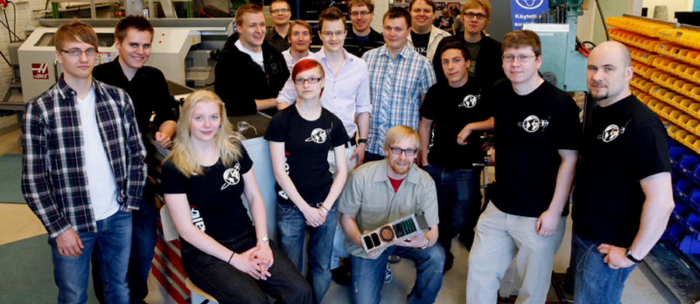 Aalto-1 team in spring 2012.