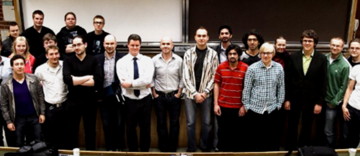 Aalto-1 team in winter 2013 with international CubeSat experts
