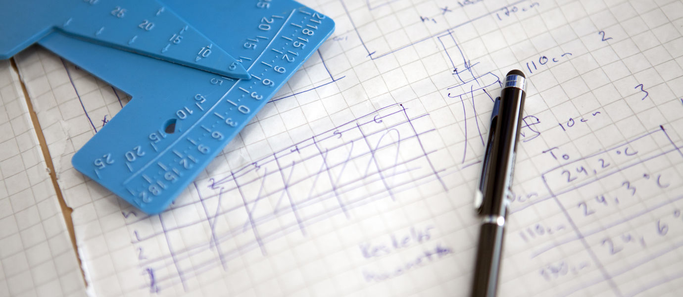 Calculations in a notebook