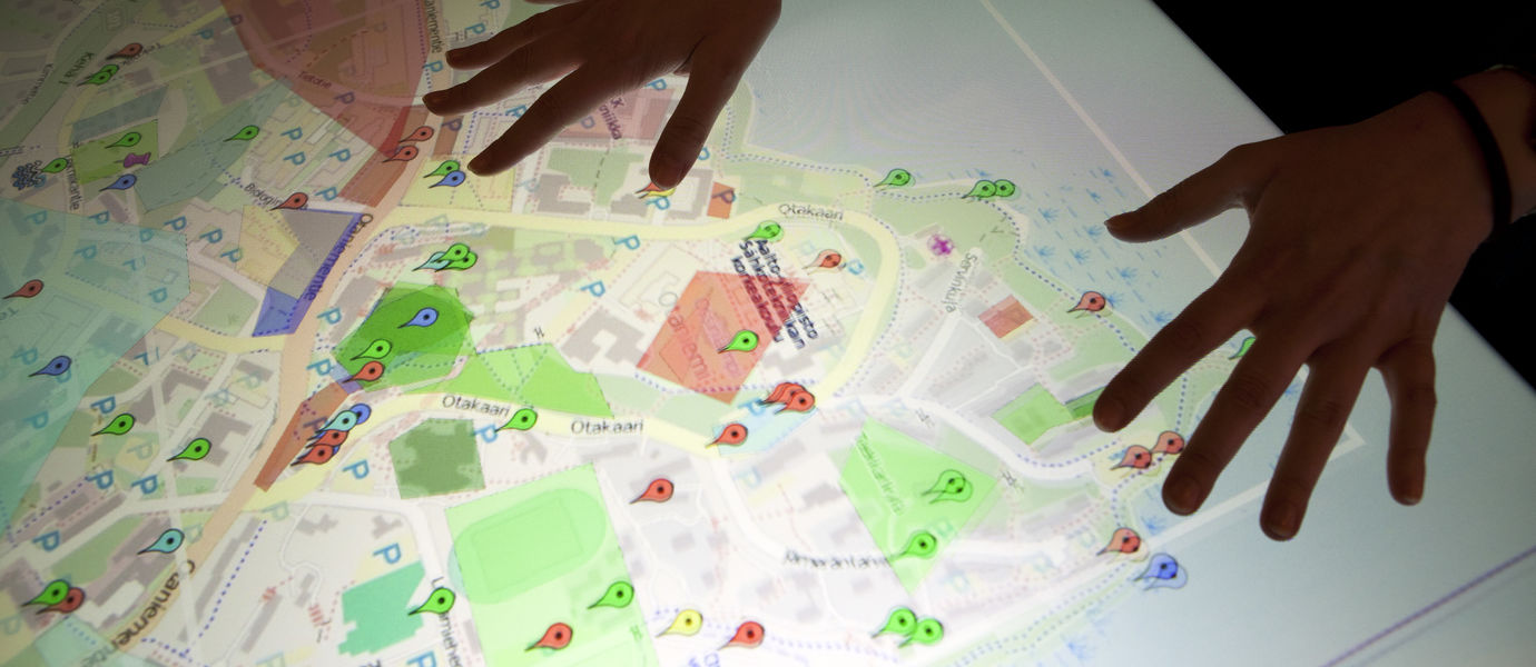 An interactive map of the Otaniemi campus