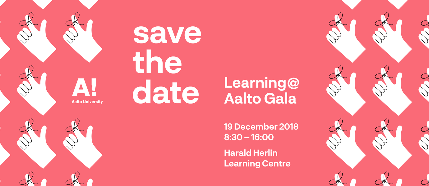 Learning@Aalto gala save the date
