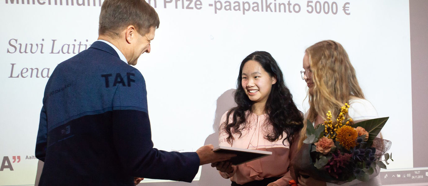 Millennium Youth Prize winner / Photo by Anni Hanén
