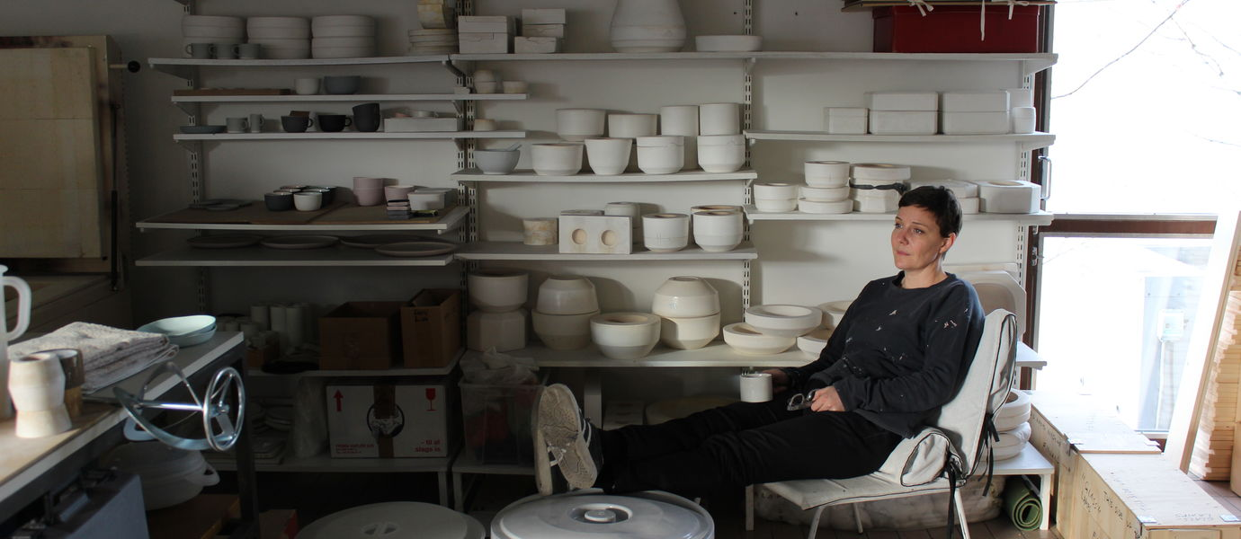 Nathalie Lautenbacher in her studio