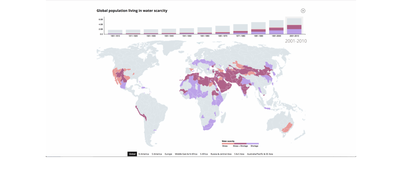 Water Scarcity Map of the World