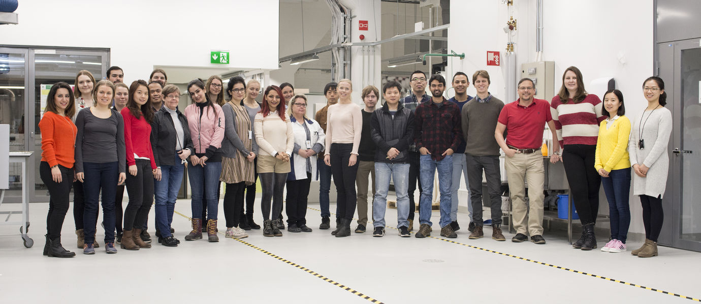 Group photo of the BiCMat research group taken by Valeria Azovskaya.