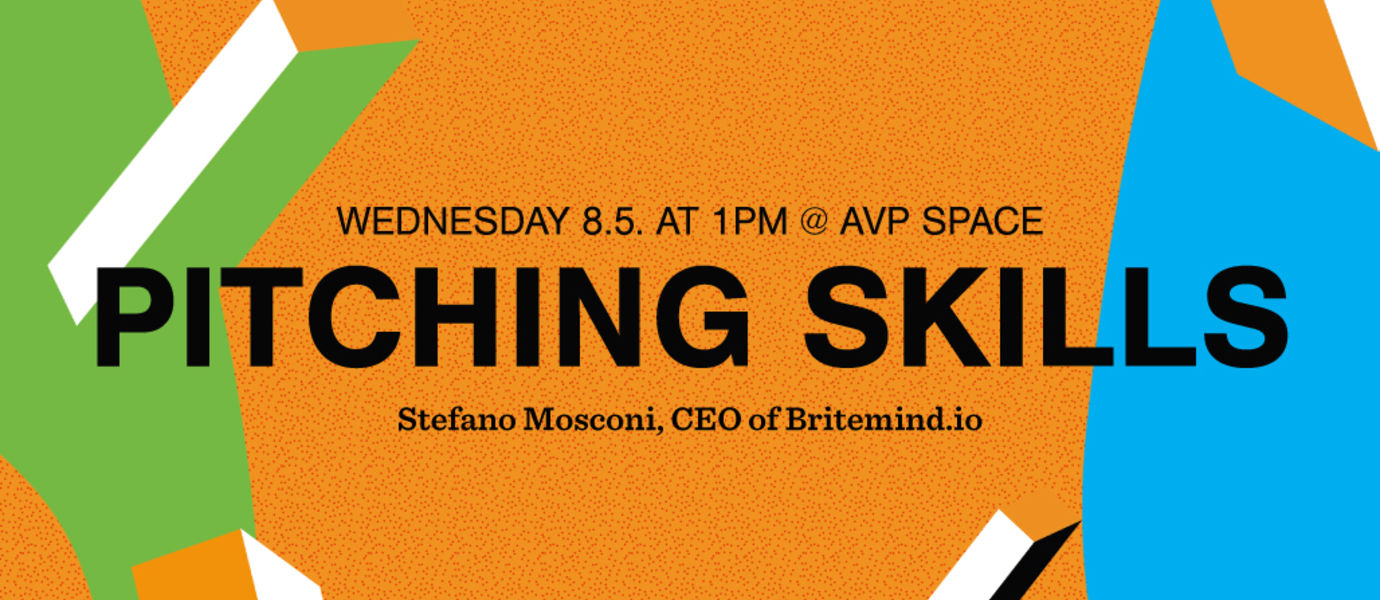 Banner photo for AVP Masterclass: Pitching skills