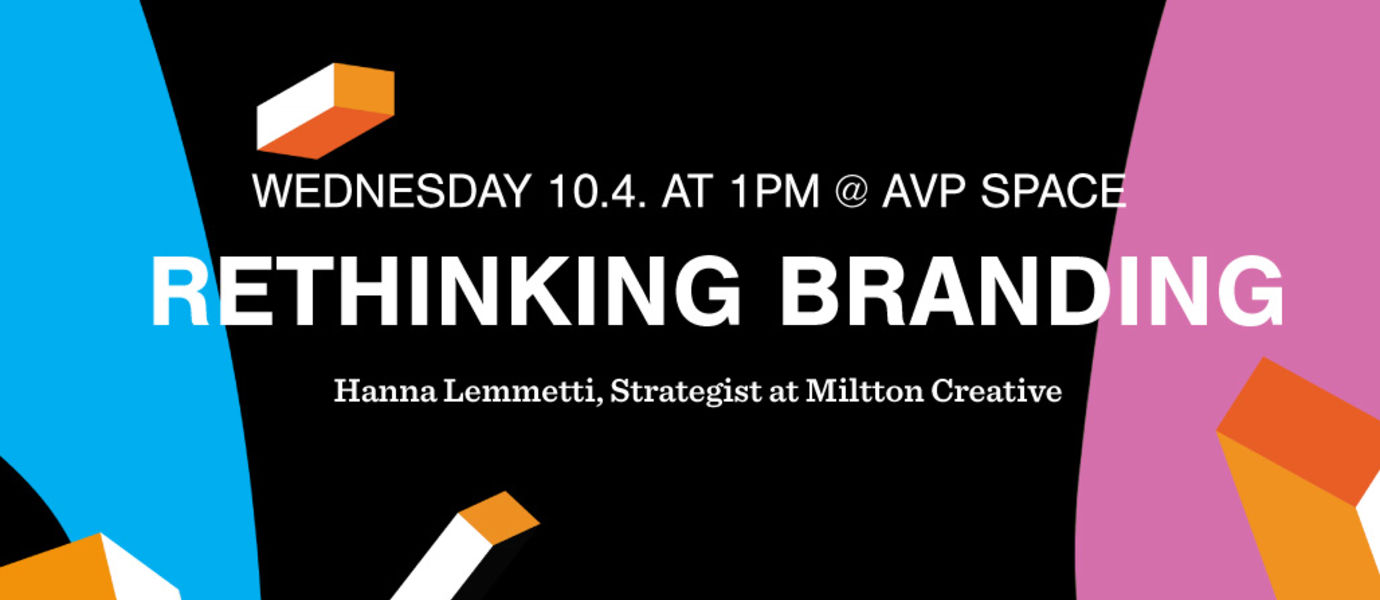 Banner photo for AVP Masterclass: Rethinking branding