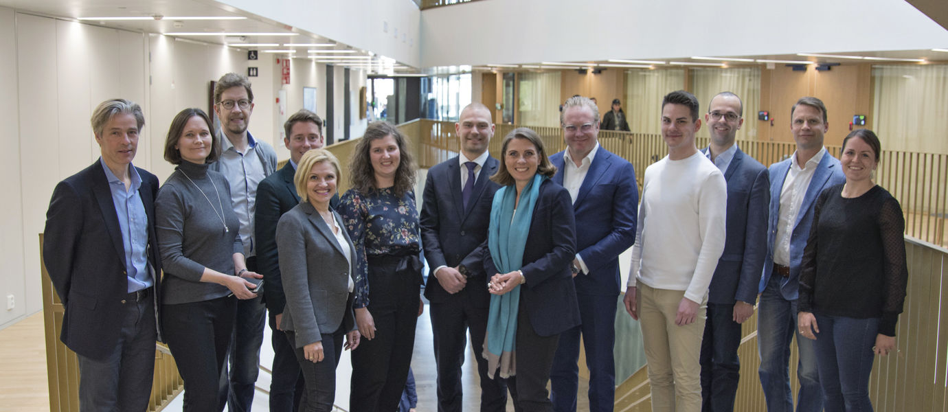 School of Business Alumni Advisory Board 2019. From the left: Ingmar Björkman, Jonna Söderholm, Mika Raulas, Juho Tuovinen, Terttu Sopanen, Elisa Liekkilä, Jaakko Eteläaho, Elina Björklund, Pasi Torppa, Arttu Aine, Norbert Juhász, Niklas Wasenius and Emilia Nevalainen.