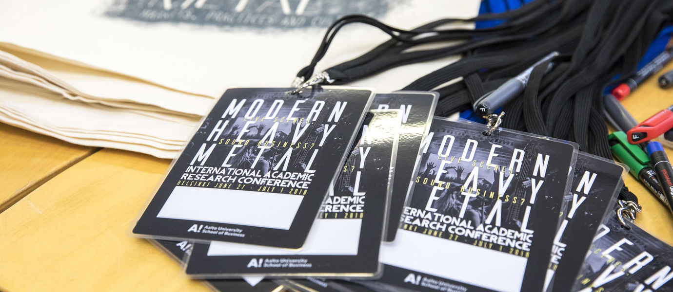 Modern heavy metal conference. Photo: Mikko Raskinen / Aalto University
