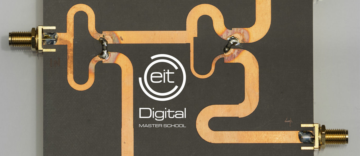 EIT logo and a circuit board