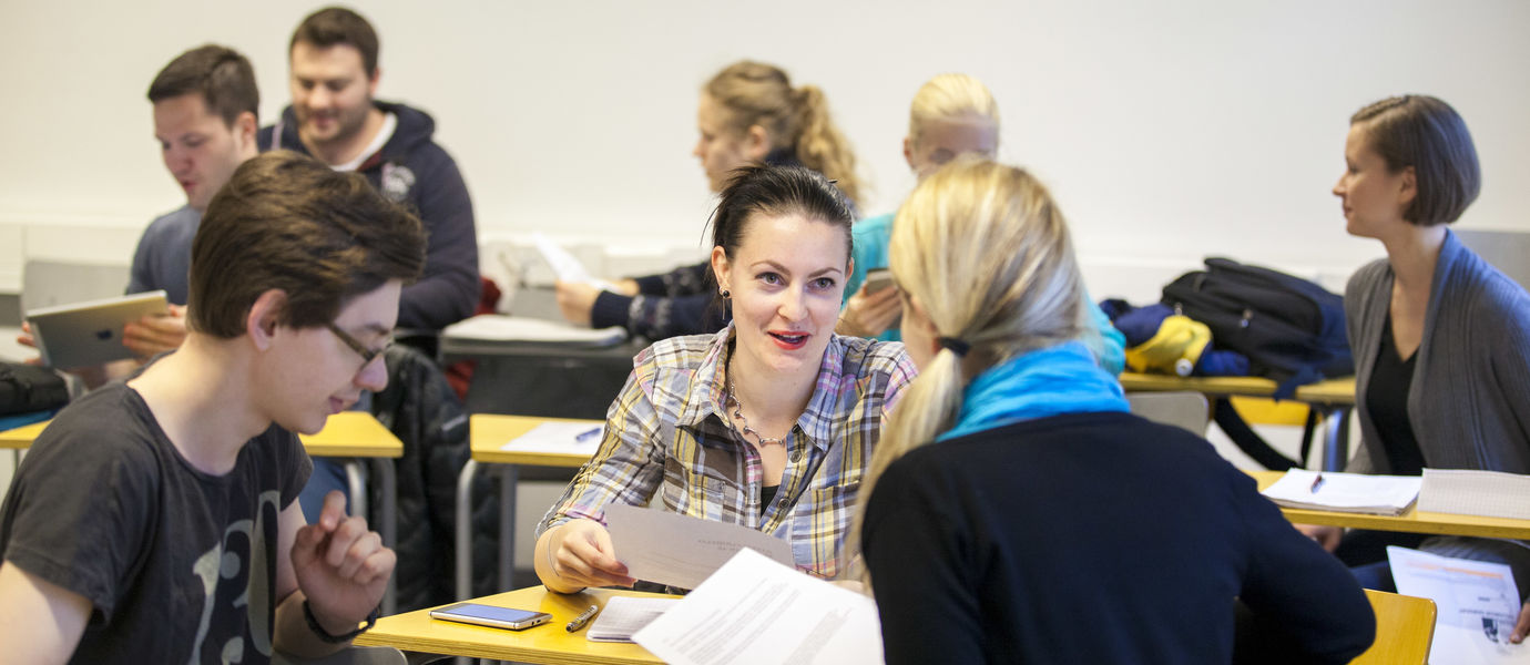 Students at Finnish class