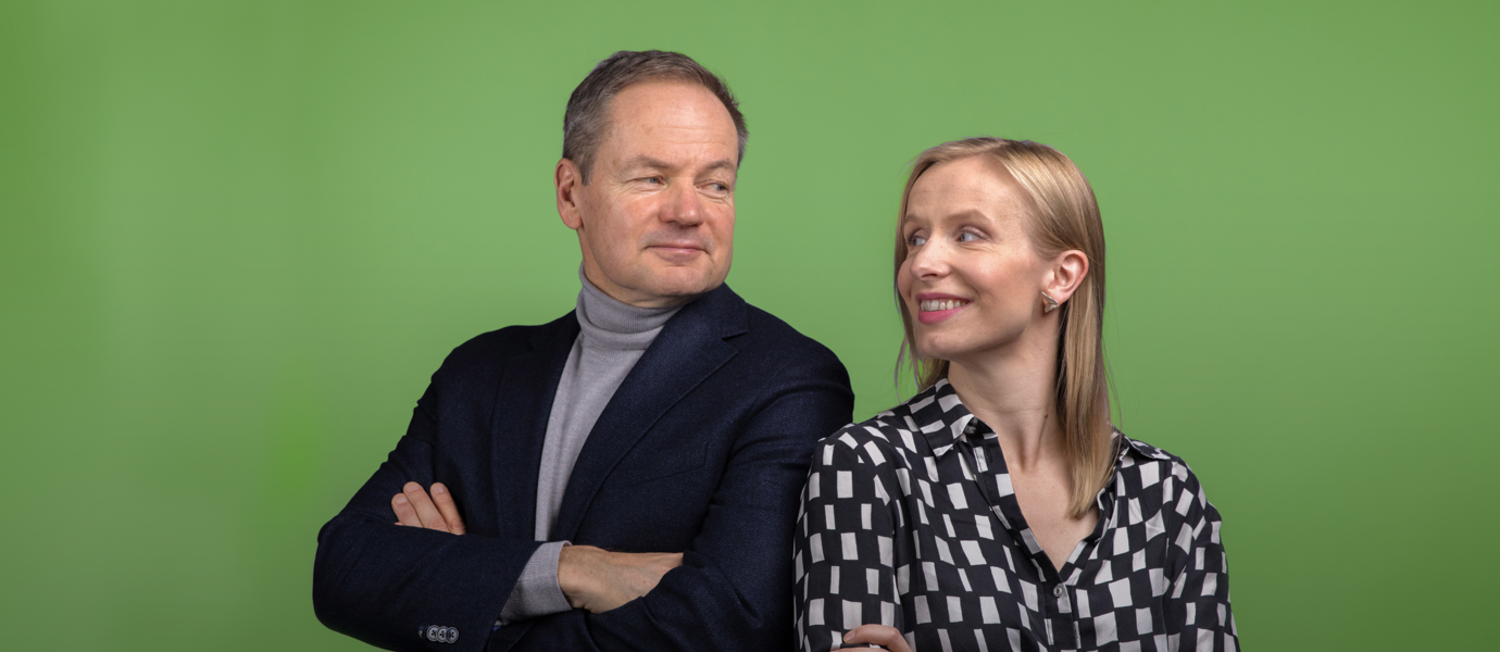 Professor Vesa Puttonen and Assistant Professor Eeva Vilkkumaa host the new podcast.