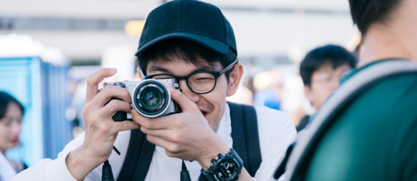 Adam Lim, AVP summer school 2019 student from SUTD taking a picture.