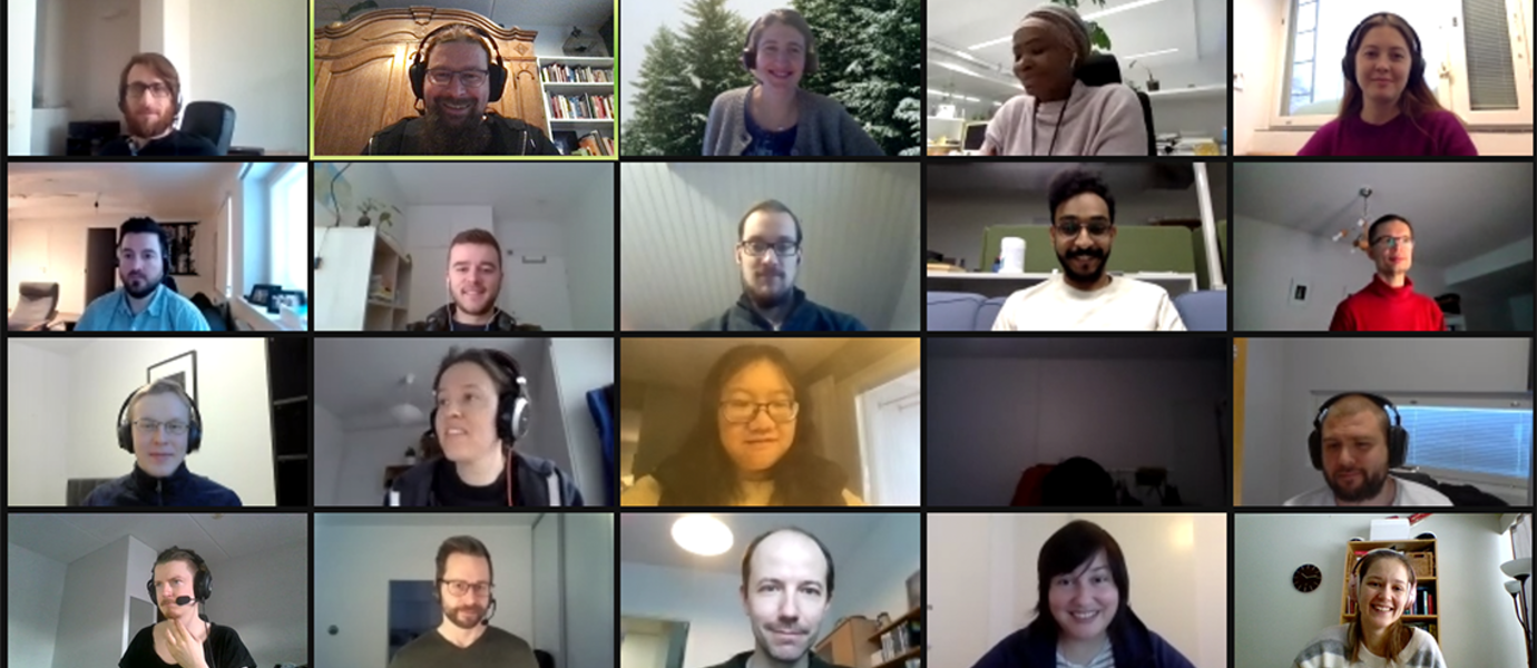 A screenshot showing the CEST group in a Zoom meeting.