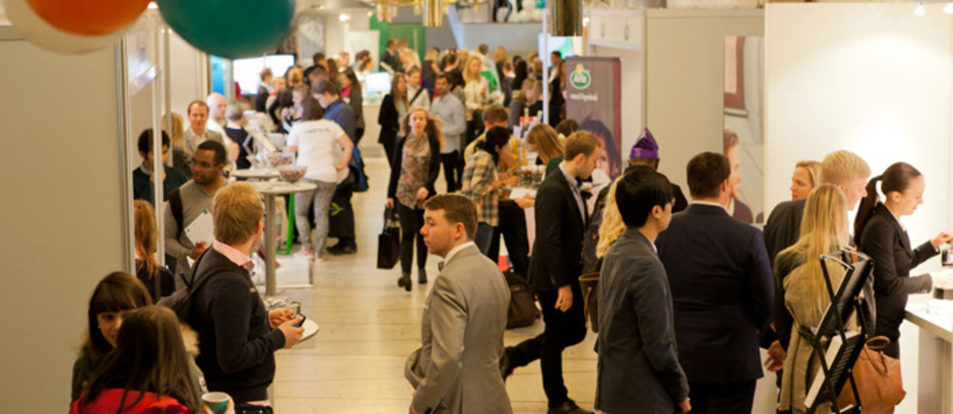 Over 60 companies participated the ARENA Career Fair. Photo: Anni Hanén/ Aalto University