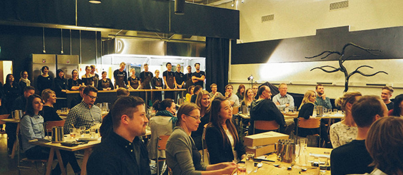 Aalto students created a pop-up restaurant for one evening. Photo Sara Chen