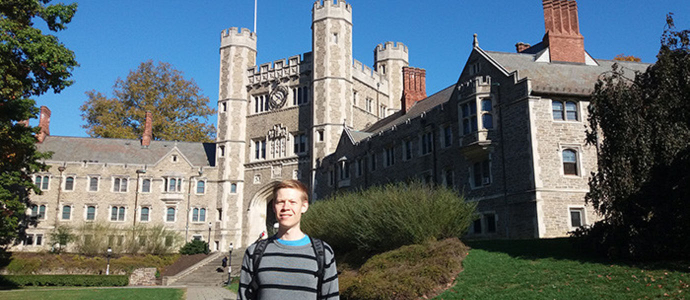 Postdoctoral researcher Joel Röntynen moved this autumn to Princeton University which is one of the top international universities in his research field of topologigal matters.