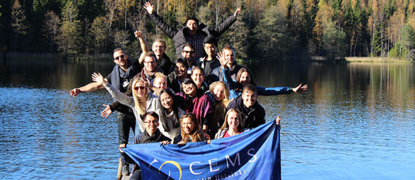 CEMS MIM students on trip to a summer cottage in autumn 2016.