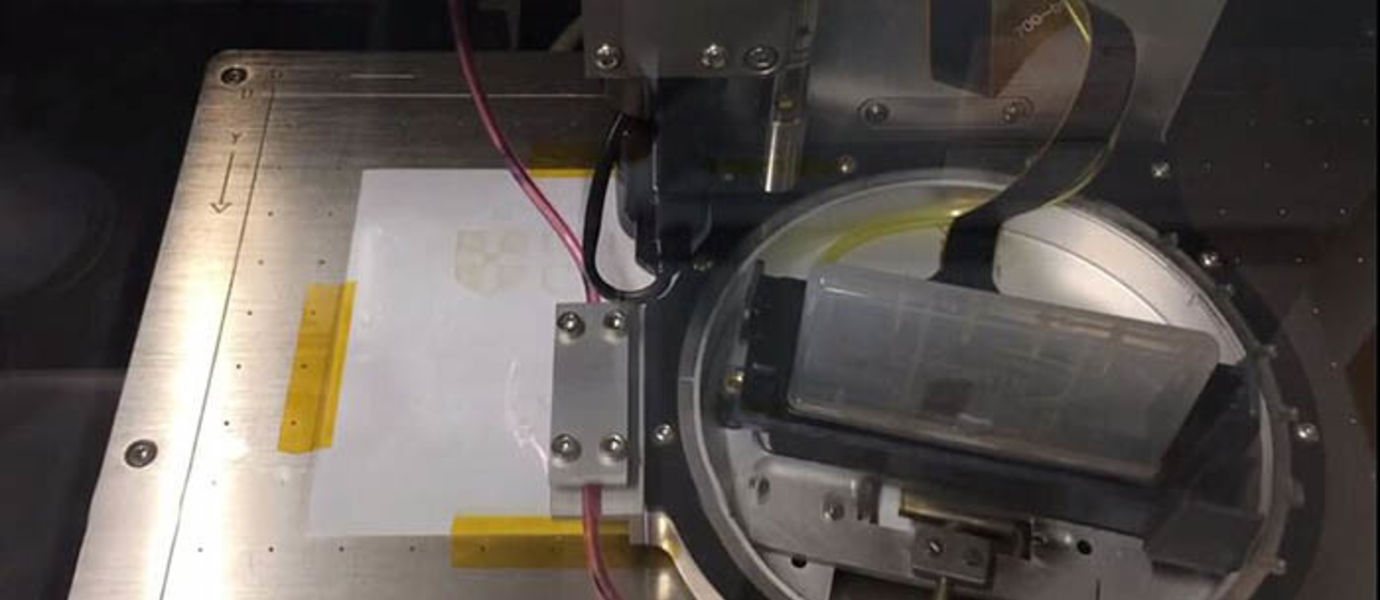 An international research team has developed inks made of graphene-like materials for inkjet printing. New black phosphorous inks are compatible with conventional inkjet printing techniques for optoelectronics and photonics. Video and photo credit: University of Cambridge