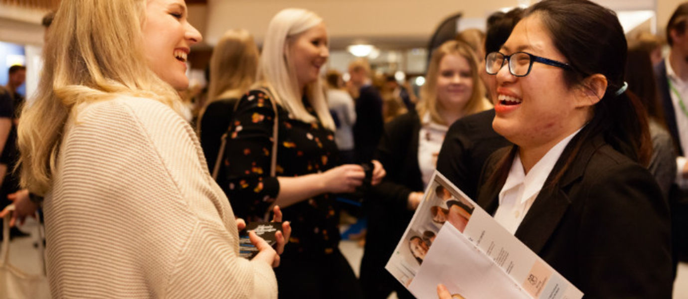 ARENA Career Fair offered business students meaningful encounters with companies. Photos: Anni Hanén
