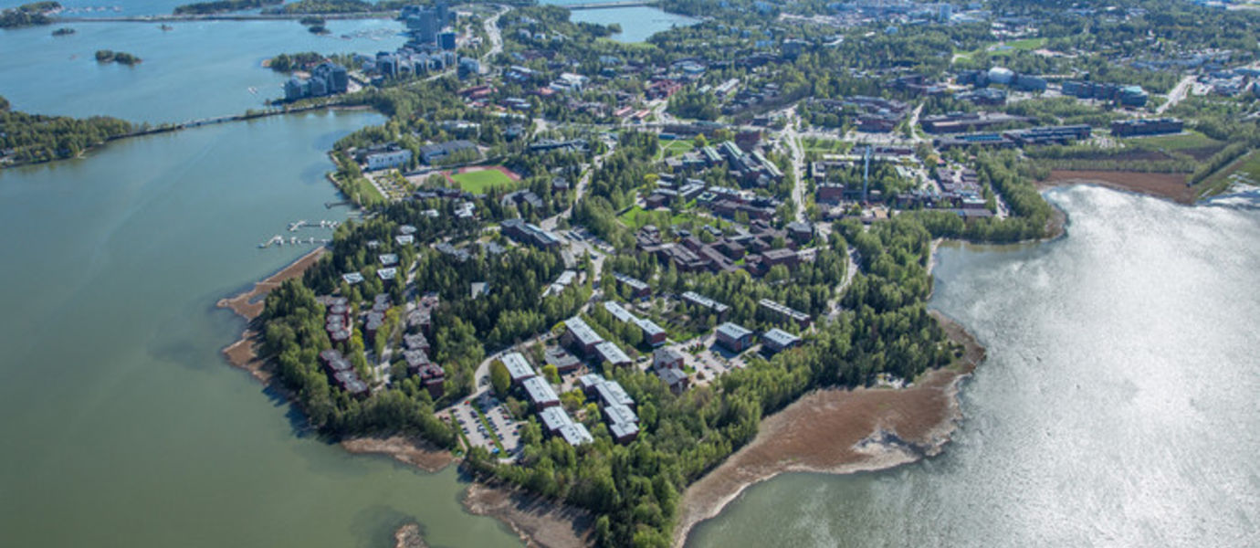 Aerial view of the Otaniemi campus.