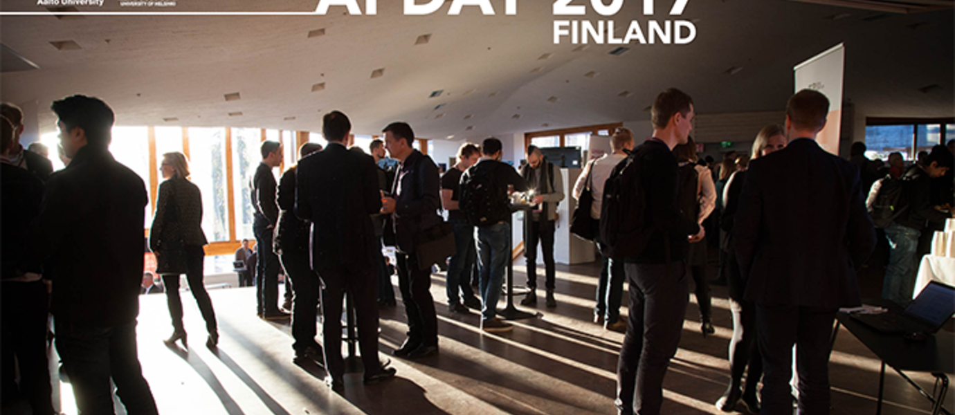 600 participants of the AI Day represented researchers, government officials and representatives from over 180 companies. Photo: Matti Ahlgren / Aalto University