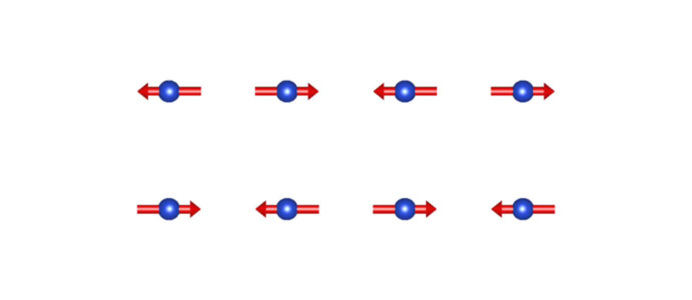 The magnetically ordered square lattice of copper ions. Tailoring the structure caused the formation of quantum spin liquid. Modifying the structure in a different way results in high-temperature superconductivity. Photo: Otto Mustonen
