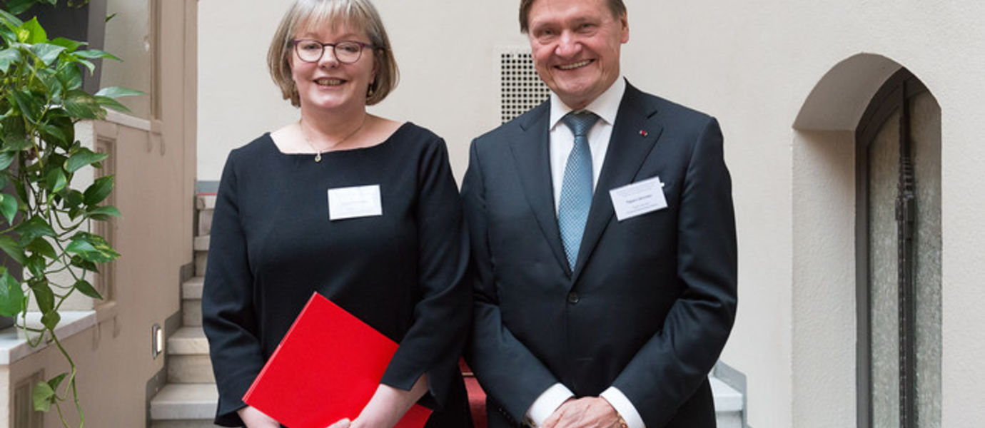 Professor Tuula Tuhkanen and Tapani Järvinen. Photo: Matti Rajala, TAF