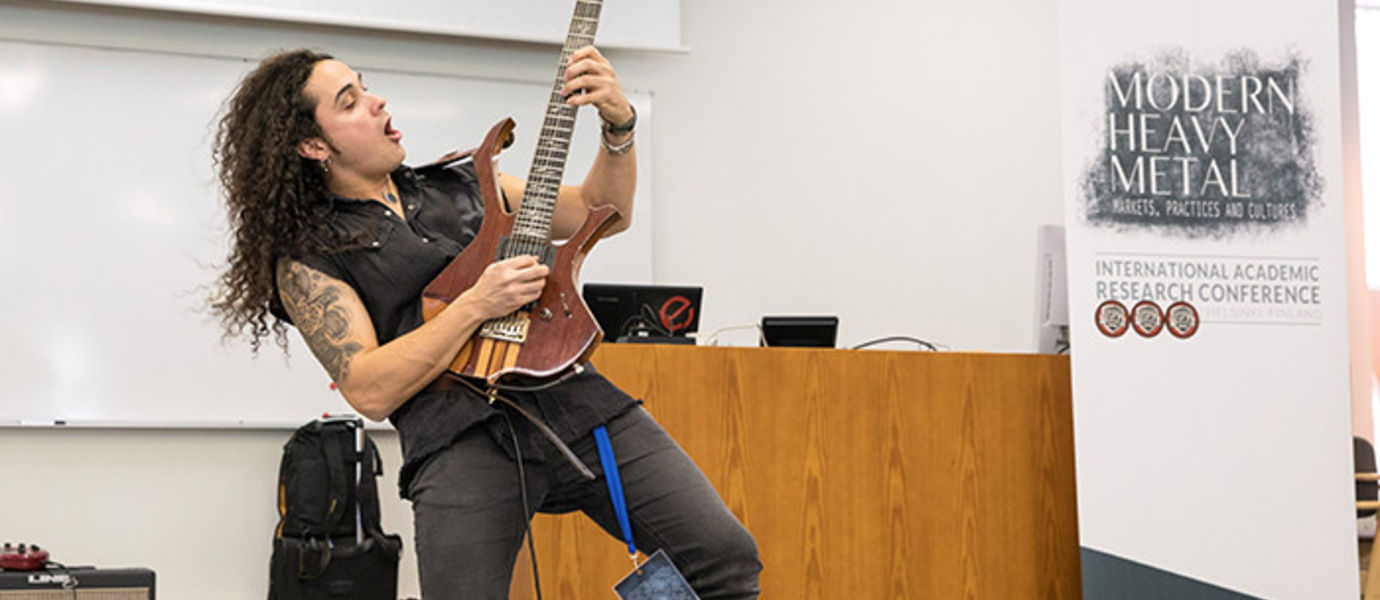 Erick Avila from Chile was one of the presenters in last year's Modern Heavy Metal Conference. Photo: Mikko Raskinen