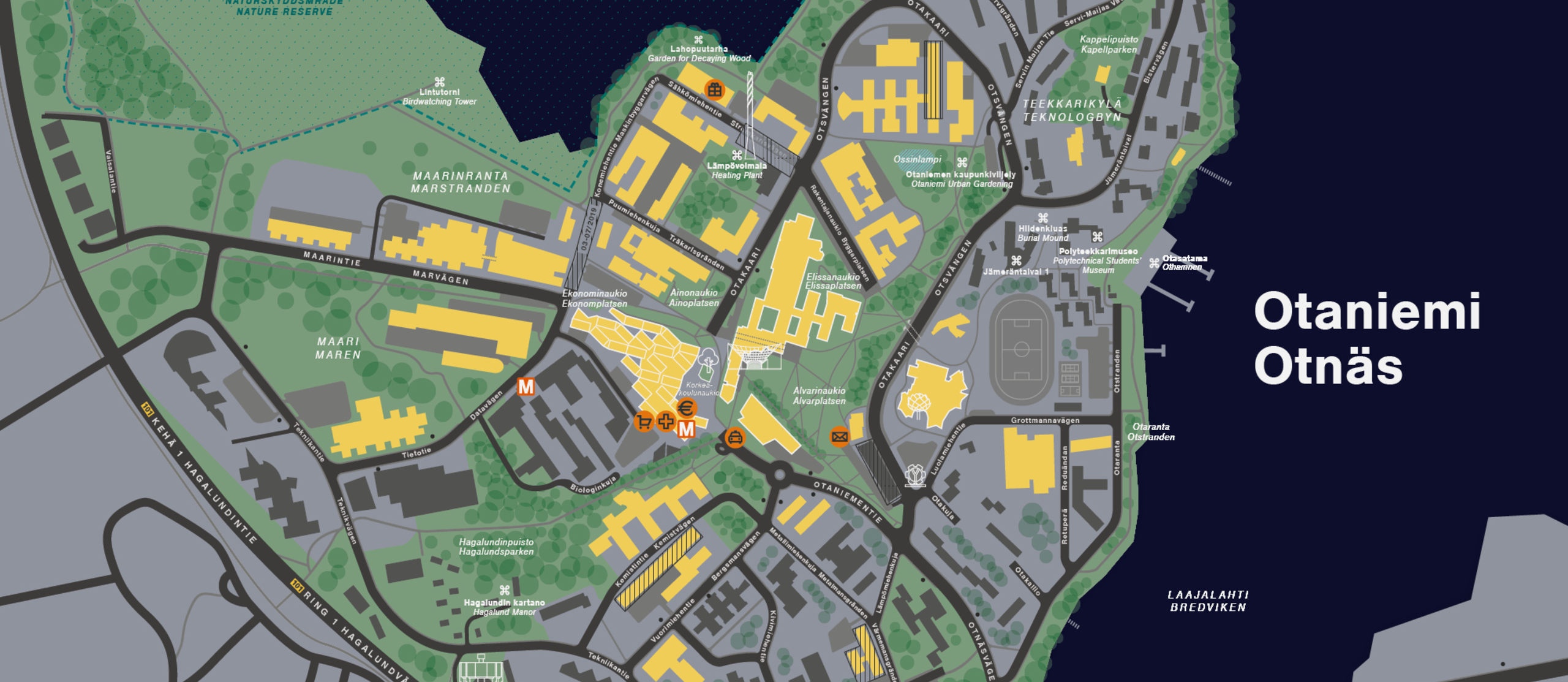 Salem College Campus Map.Campus Maps And Getting To Otaniemi Aalto University