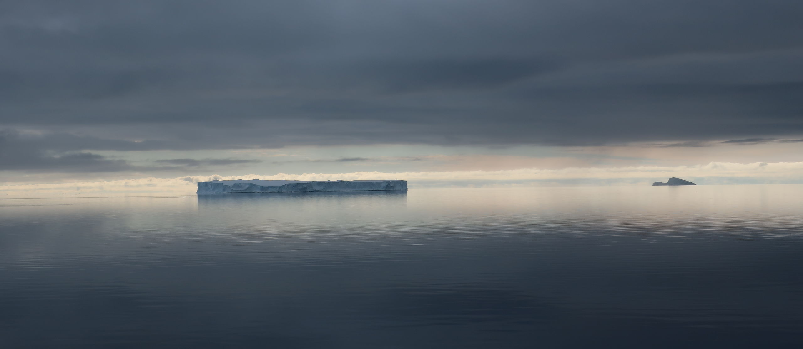 A cloudy day in the Antarctic.