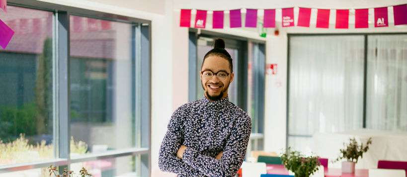 Aalto University, Otaniemi stories: D'Angelo-D'Ontace Keyes, participating the PDP course in Otaniemi as a part of his studies at Philadelphia University, USA / Photographer: Sinikoski