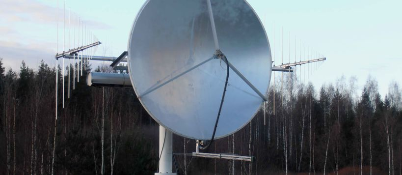 A radio telescope dedicated for solar observations at Metsähovi Radio Observatory.