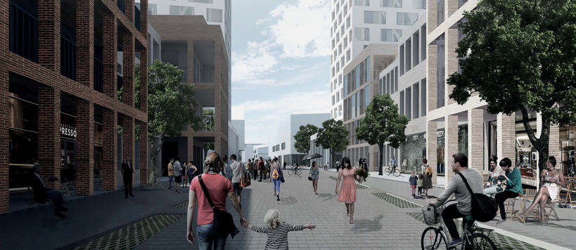 Kvartsi urban design competition proposal for a renewal of the Vuosaari centre, by Aalto architecture students Jaakko Heikkilä, Lauri Janhunen, Ahti Launis and Raisa Mäkinen for the City of Helsinki