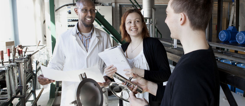 Slag2PCC researchers at the facility.