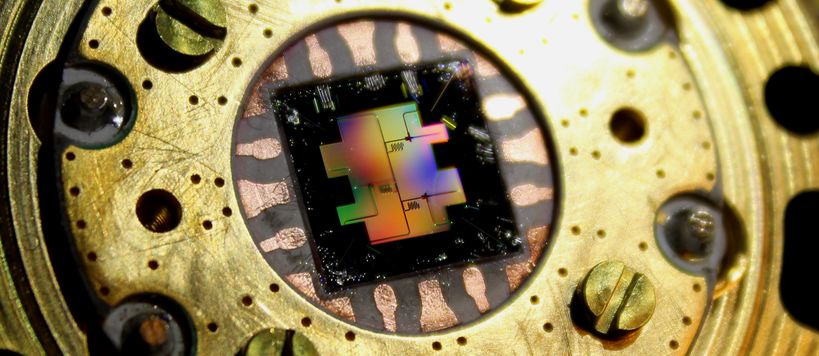 Aalto University Quantum Bit Silicon Chip. Image: Jan Goetz.